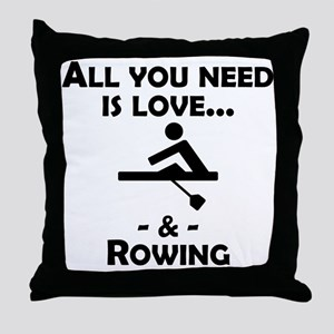Love And Rowing Throw Pillow