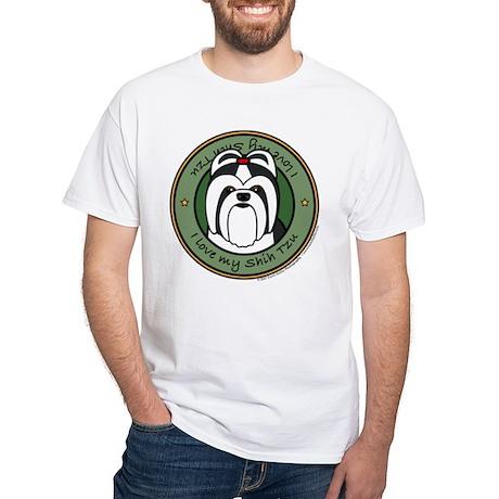 Love My Shih Tzu White T-Shirt