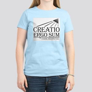 Creatio Ergo Sum Women's Pink T-Shirt