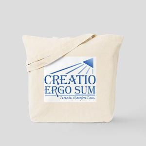 Creatio Ergo Sum Tote Bag