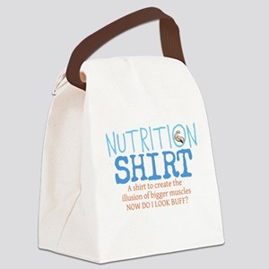 Nutrition Shirt Canvas Lunch Bag
