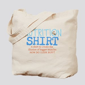 Nutrition Shirt Tote Bag