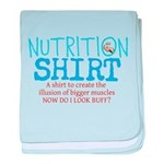 Nutrition Shirt baby blanket