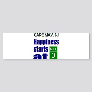 Happiness Starts at Mile 0 Bumper Sticker