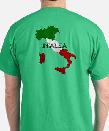 Italy Flag Map T-Shirt