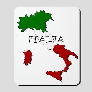 Italy Flag Map Mousepad