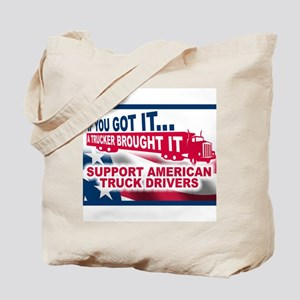 """Support American Truckers""  Tote Bag"