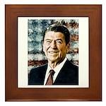 The Great President Ronald Reagan Framed Tile