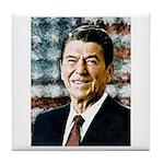 The Great President Ronald Reagan Tile Coaster