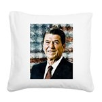 The Great President Ronald Reagan Square Canvas Pi