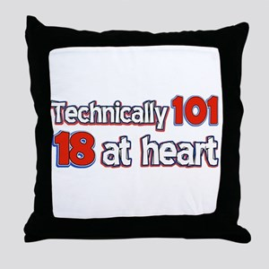 101 year old designs Throw Pillow
