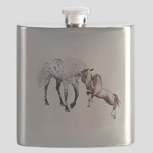 Horses Love Forever Flask