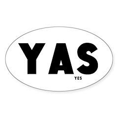 Yas - Sticker (oval)