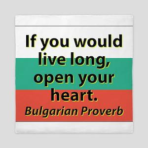 If You Would Live Long Queen Duvet