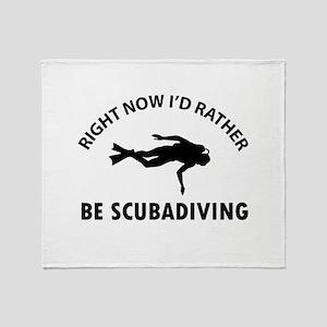 Scuba diving designs Throw Blanket