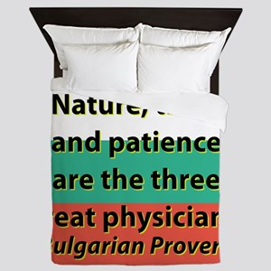 Nature Time And Patience Queen Duvet