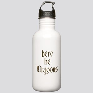 Here Be Dragons 001c Sports Water Bottle