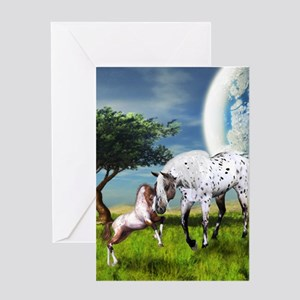 Horses Love Forever Greeting Cards