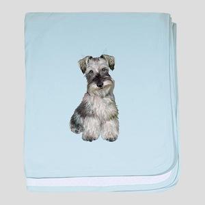 Schnauzer (V) baby blanket