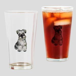 Schnauzer (V) Drinking Glass