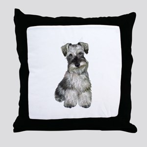 Schnauzer (V) Throw Pillow