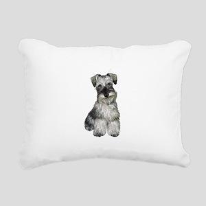 Schnauzer (V) Rectangular Canvas Pillow