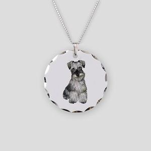 Schnauzer (V) Necklace Circle Charm