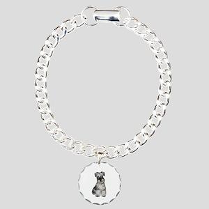 Schnauzer (V) Charm Bracelet, One Charm