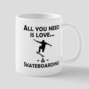 Love And Skateboarding Mugs