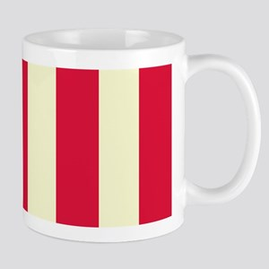 Red and Cream Stripes Mugs