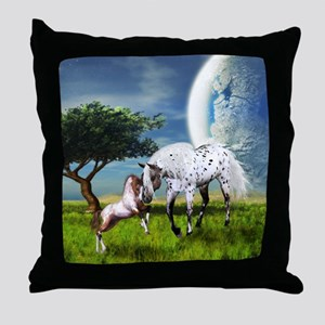 Horses Love Forever Throw Pillow