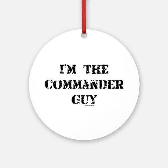 Commander Guy Ornament (Round)