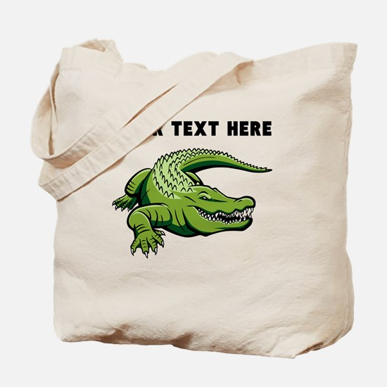 Custom Green Alligator Tote Bag