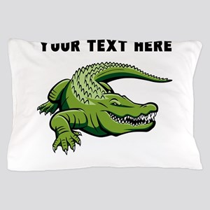 Custom Green Alligator Pillow Case