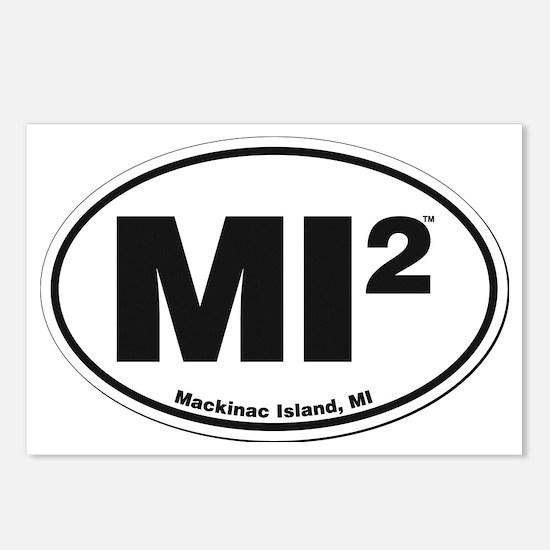 Mackinac Island Sticker Postcards (Package of 8)