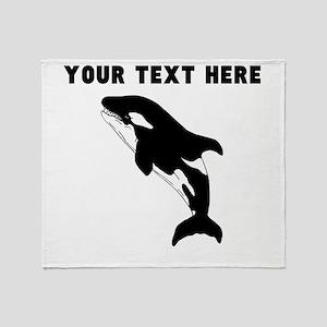 Custom Orca Whale Throw Blanket