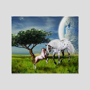 Horses Love Forever Throw Blanket