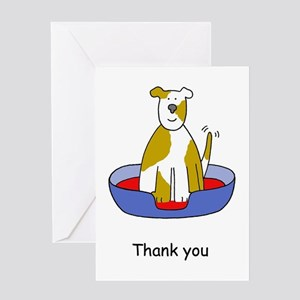 Dog thank you greeting cards cafepress thanks for looking after the dog greeting cards m4hsunfo Choice Image
