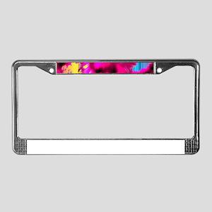 Fragments License Plate Frame