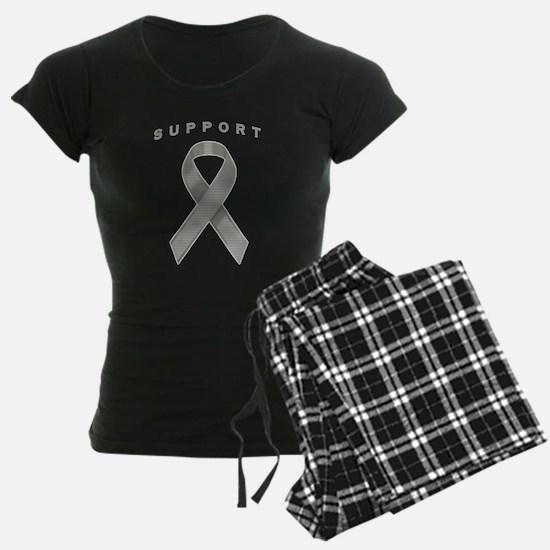 Gray Awareness Ribbon Pajamas