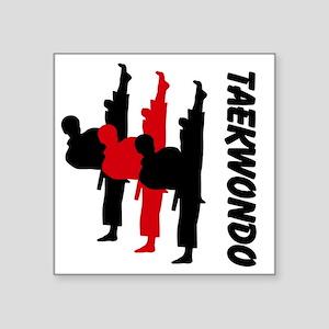 """Tae Kwondo Square Sticker 3"""" x 3"""""""
