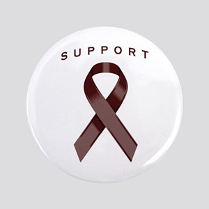 "Burgundy Awareness Ribbon 3.5"" Button (100 pack)"