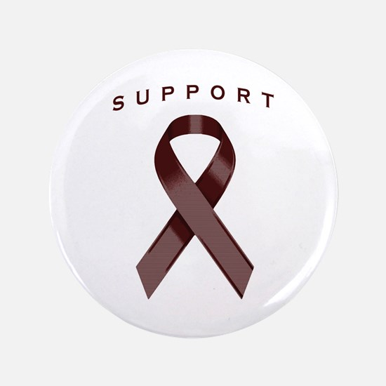 "Burgundy Awareness Ribbon 3.5"" Button (100 pack)"
