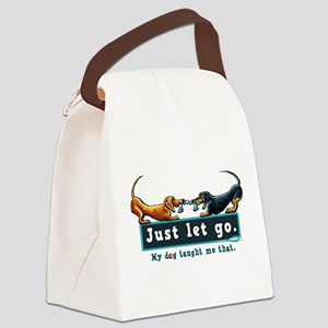 Dachshund Let Go Canvas Lunch Bag