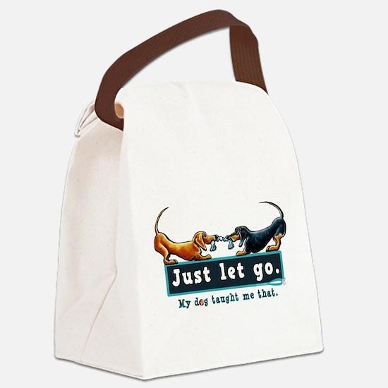 Dachshund Let Go Canvas Lunch Bag
