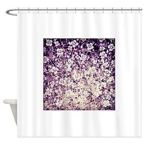 Deep Purple Shower Curtains