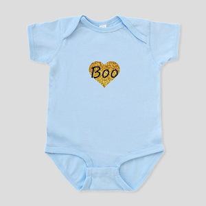 boo gold glitter heart Body Suit
