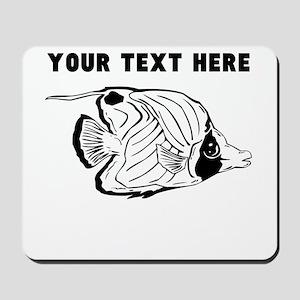 Custom Yellow Longnose Butterflyfish Mousepad