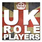 """UK Role Players Square Car Magnet 3"""" x 3"""""""