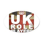 UK Role Players Oval Car Magnet